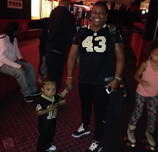 Lil Wayne's mother Jacida Carter with her grandson Neal Carter